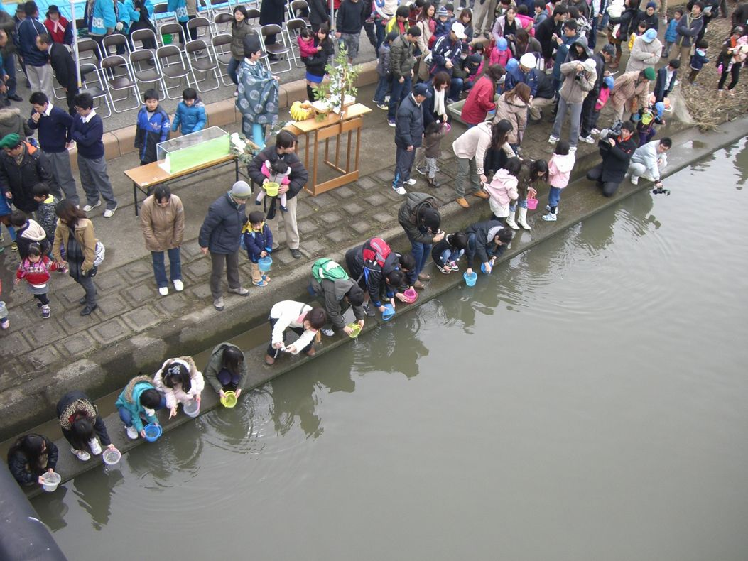 鮭放流会2